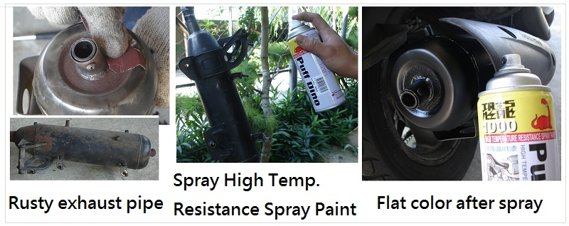 PUFFDINO High Temp. Resistance Spray Paint