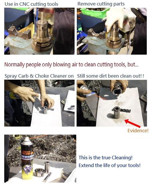 CNC Cutting tools cleaning